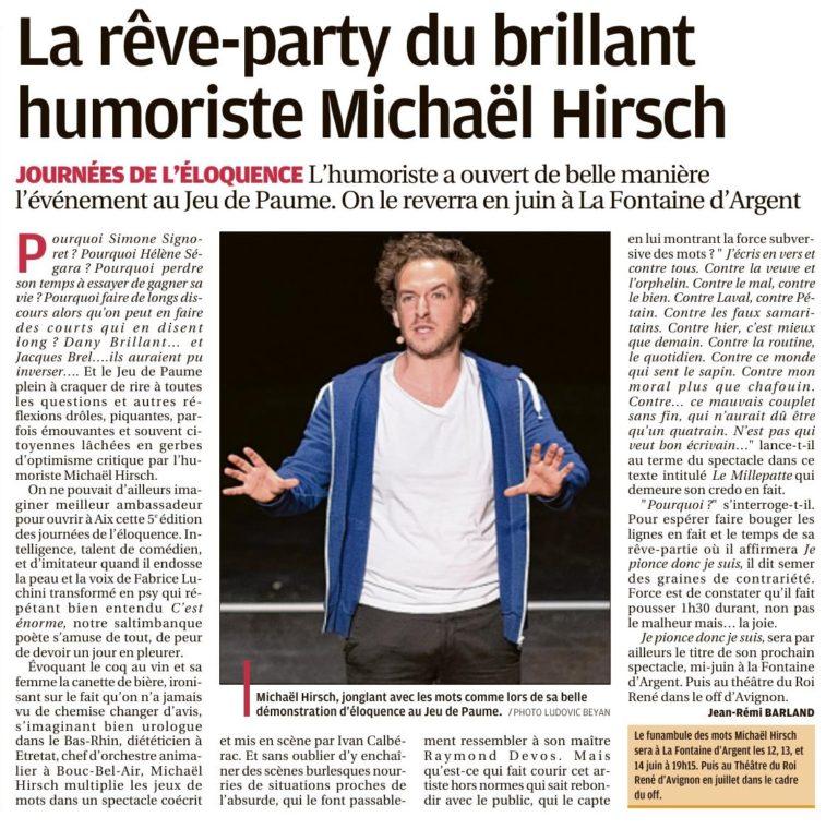 Barland pap Michaël Hirsch La Provence 20 mai 2019